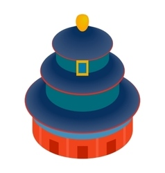 temple heaven icon isometric 3d style vector image