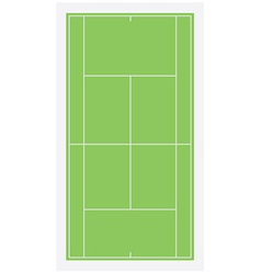Tennis field vector image