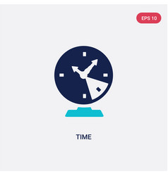 Two color time icon from human resources concept vector