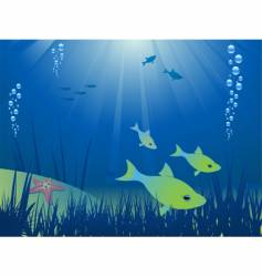 under the ocean vector image