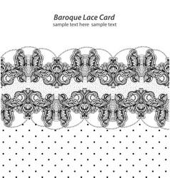 vintage retro delicate lace card handmade vector image
