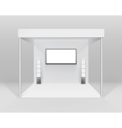 White Trade exhibition Stand for Presentation vector image