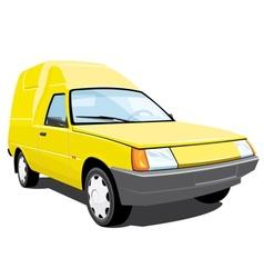 Yellow pickup vector