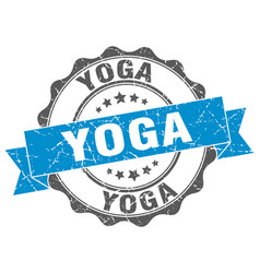 Yoga stamp sign seal vector