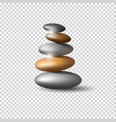 Zen stone tower on transparent background vector