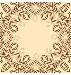 celtic ornamental design element vector image vector image