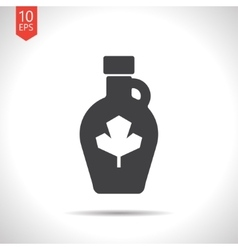 Color flat maple syrup bottle template vector