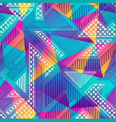 colored triangle seamless pattern vector image