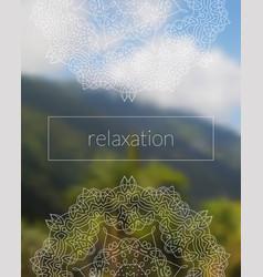 Boho sacred geometry mandala on tropic background vector