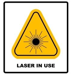 Danger laser radiation Class I symbol in yellow vector image