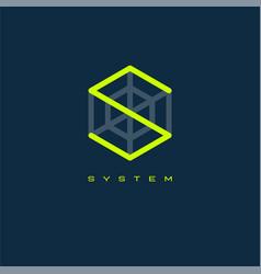 s monogram letter system logo vector image