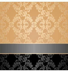 seamless pattern floral decorative background gray vector image vector image