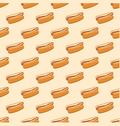 Seamless pattern with hot dogs vector
