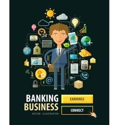 Banking business logo design template Bank vector image
