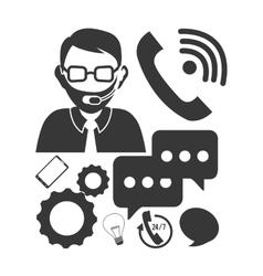 customer support service icons vector image vector image