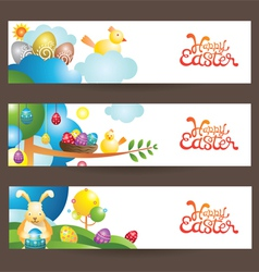 Easter Background and Banner vector image