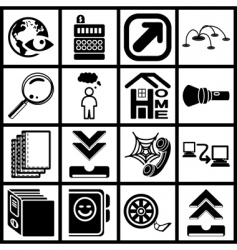 internet web icon series set vector image vector image