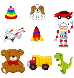 Kids toy collection vector image