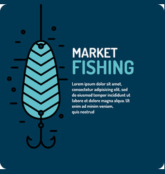 modern of the best fishing in vector image vector image