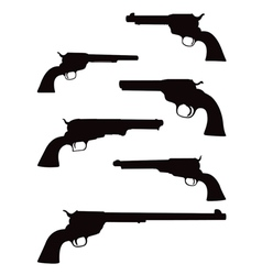 pistol silhouettes vector image
