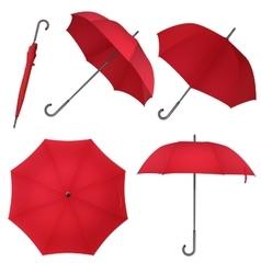 Red blank classic round rain Umbrella Photo vector image vector image