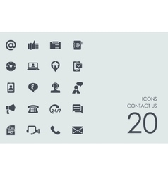 Set of contact us icons vector image vector image