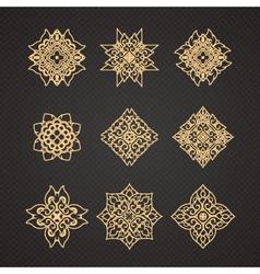 set of thai art design vector image vector image