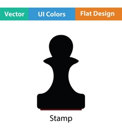 Stamp icon vector image
