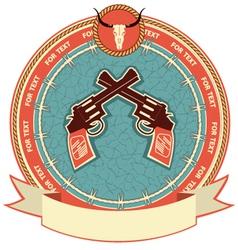 Western symbol background vector image vector image