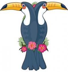 animal alphabet toucan vector image