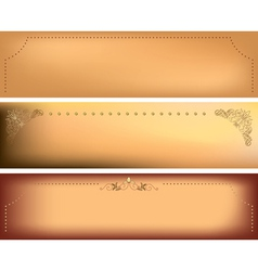 horizontal backgrounds with decorative frames vector image vector image
