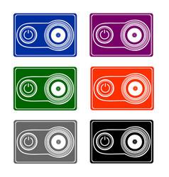 a portable video camera in vector image