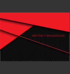 Abstract red dark grey hexagon mesh overlap vector