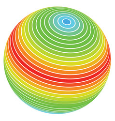 abstract sphere spectrum stripes vector image