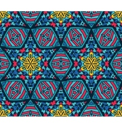Abstract Tribal mosaic ethnic seamless pattern vector image