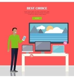 Best Choice Concept vector