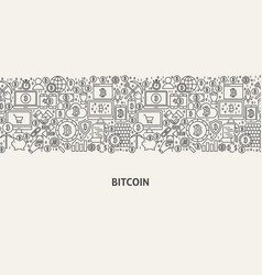 bitcoin banner concept vector image