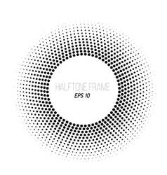 Black and white halftone dotted frame Stock vector image