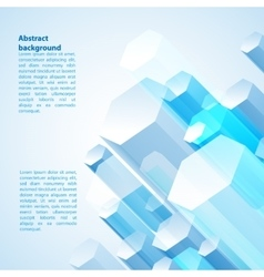 Blue abstract cristal prism vector image