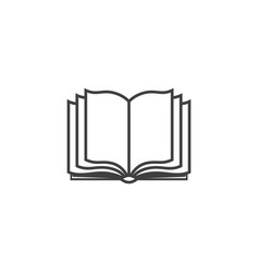book icon sign design learning education book vector image