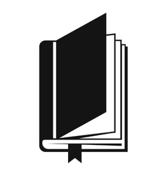 Book with bookmark icon simple style vector