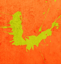Bright Orange Paint Splash Background vector