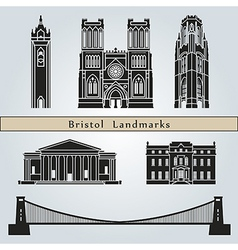 bristol landmarks and monuments vector image