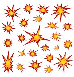 Bursting star set vector