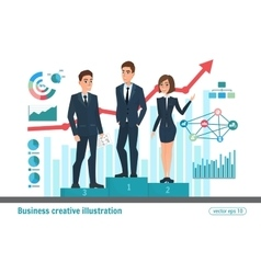 Business professional Award winners Victory vector image