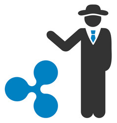Businessman show ripple flat icon vector