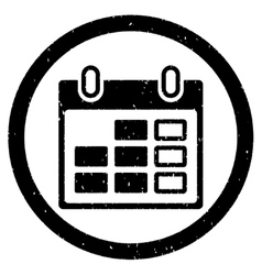 Calendar Week Rounded Grainy Icon vector