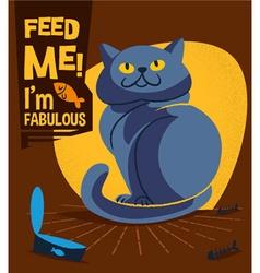 Cartoon cat design vector