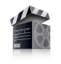 Cinema concept movie black vector