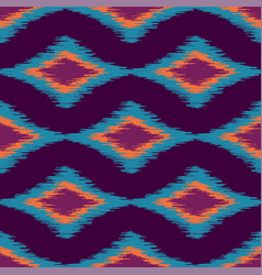 colorful seamless ikat ethnic pattern vector image